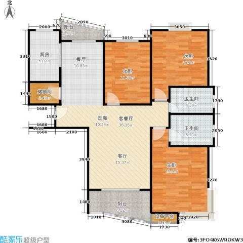 和润家园二期3室1厅2卫1厨141.00㎡户型图