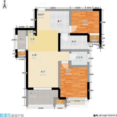 荣鼎幸福城2室1厅1卫1厨78.22㎡户型图