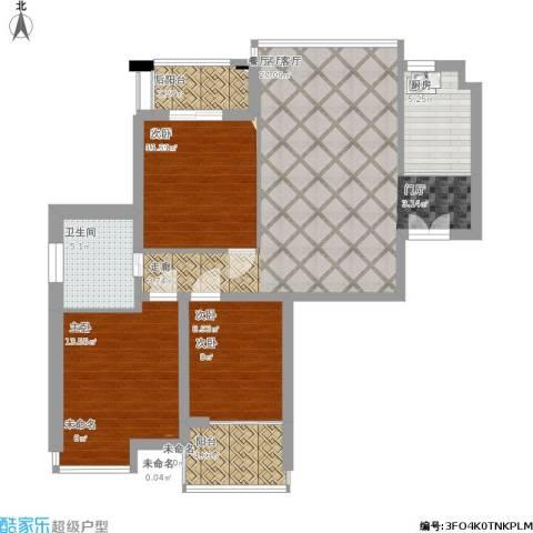 三水湾小区2室1厅1卫1厨118.00㎡户型图