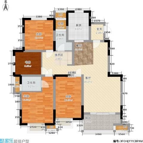 三金燕语庭4室0厅2卫1厨144.00㎡户型图