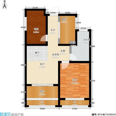 建滔裕景园2室0厅1卫1厨86.00㎡户型图
