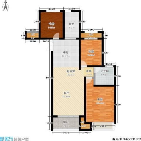 建滔裕景园3室0厅1卫1厨113.00㎡户型图