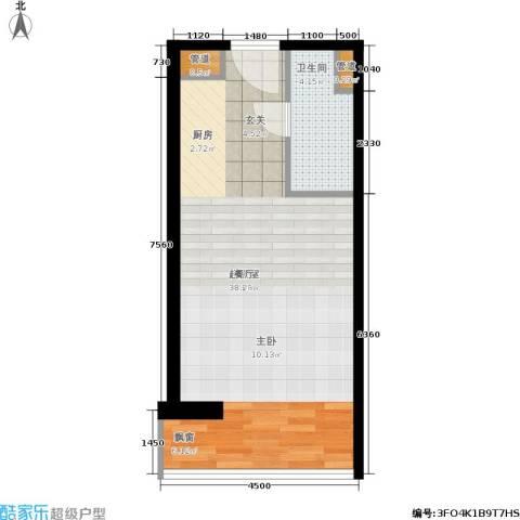 中信海港城1卫0厨52.00㎡户型图