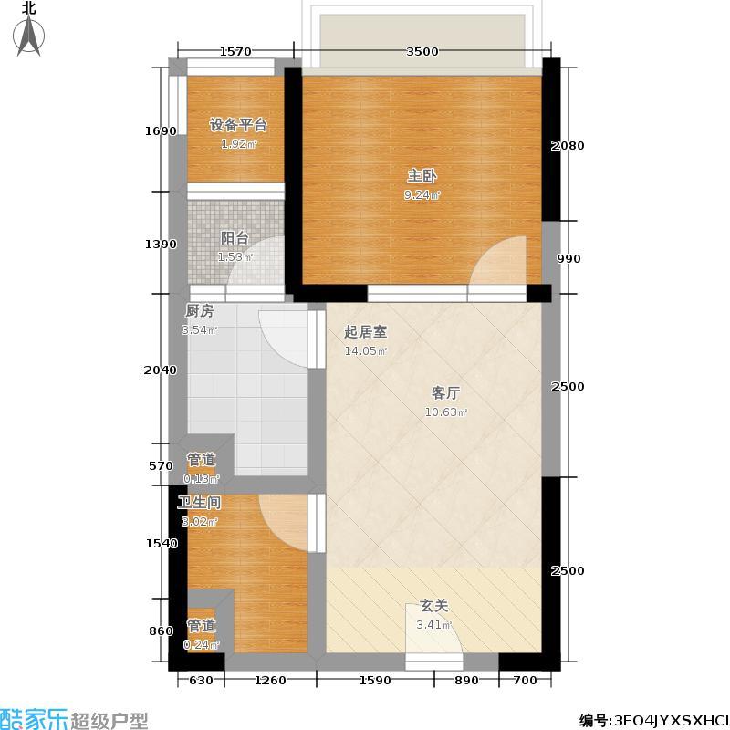 御江南41.00㎡7座公寓04单位户型