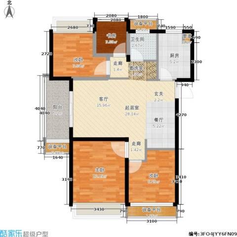 朗诗未来街区4室0厅1卫1厨89.00㎡户型图