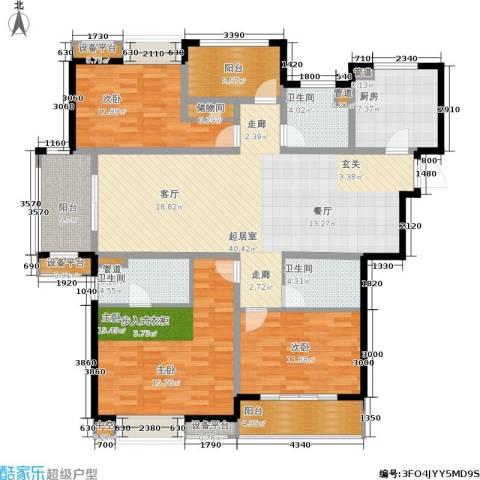 世茂君望墅3室0厅3卫1厨142.00㎡户型图