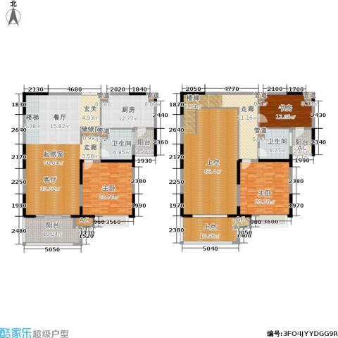 康利华府3室0厅2卫1厨232.62㎡户型图