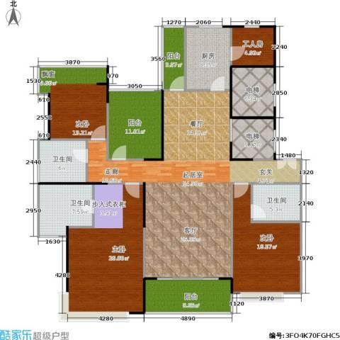 光大锦绣山河四期观园3室0厅3卫1厨191.00㎡户型图