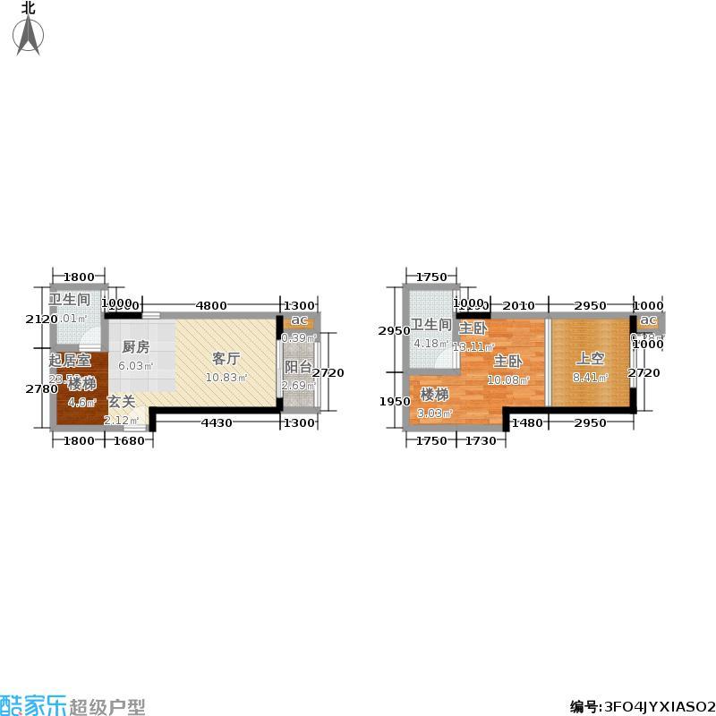 邦华星际广场45.39㎡邦华・星际广场12单元平面图1室户型