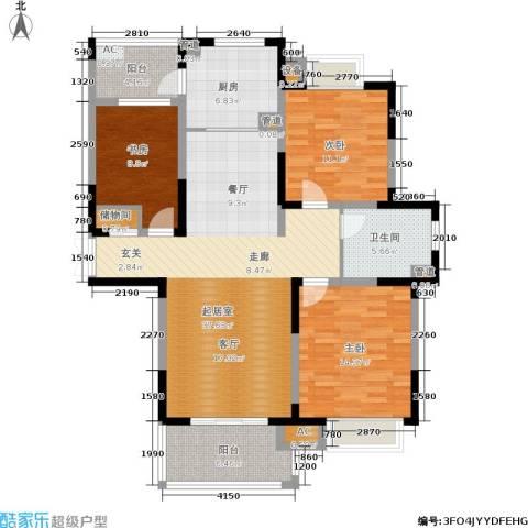 康利华府3室0厅1卫1厨123.00㎡户型图