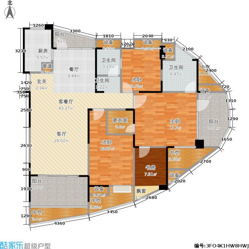 五矿万境水岸9#户型4室2厅