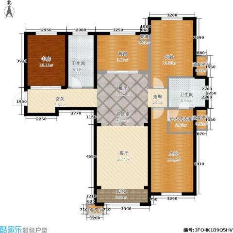 亿达天琴山3室0厅2卫1厨155.00㎡户型图