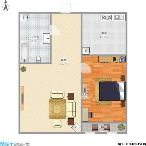 南辛北街宿舍1室1厅1卫1厨101.00㎡户型图