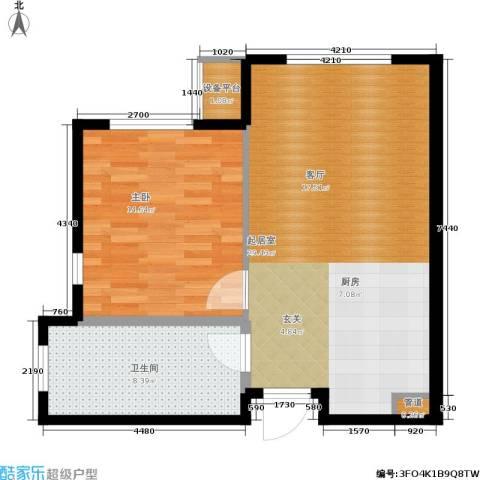 亿达天琴山1室0厅1卫0厨75.00㎡户型图