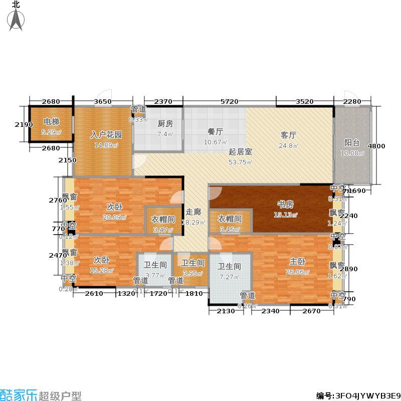 珠光公园御景210.00㎡珠光・公园御景A1/A2/A3栋A2户型