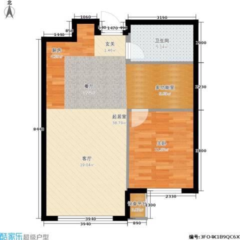 亿达天琴山1室0厅1卫0厨77.00㎡户型图