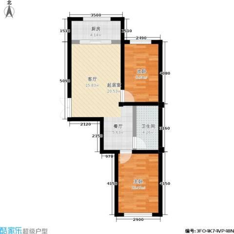枫桥河畔二期2室0厅1卫1厨70.00㎡户型图