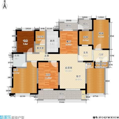 中茵星墅湾3室0厅2卫1厨144.00㎡户型图