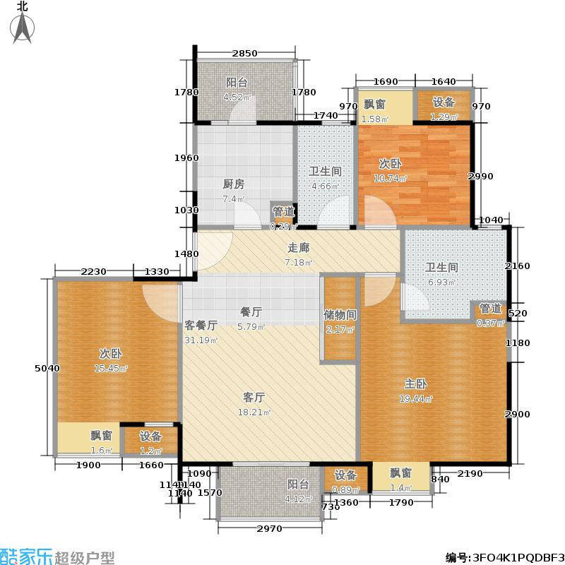 汇锦城120.00㎡C户型3室2厅