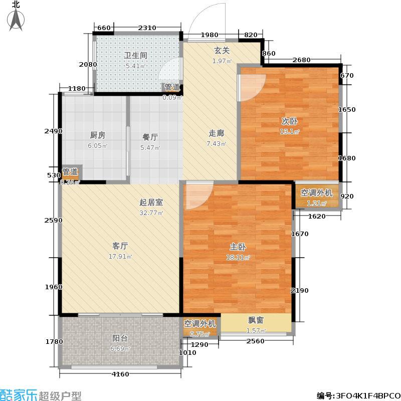 长江御园91.00㎡公寓A户型
