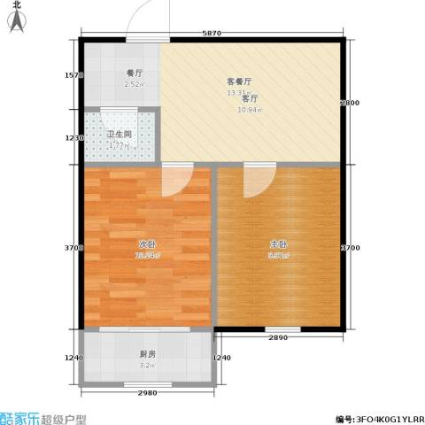 曙光新村2室1厅1卫1厨42.00㎡户型图