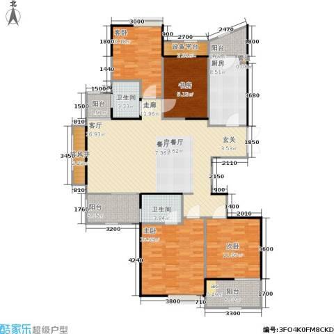 金色家园4室1厅2卫1厨163.00㎡户型图