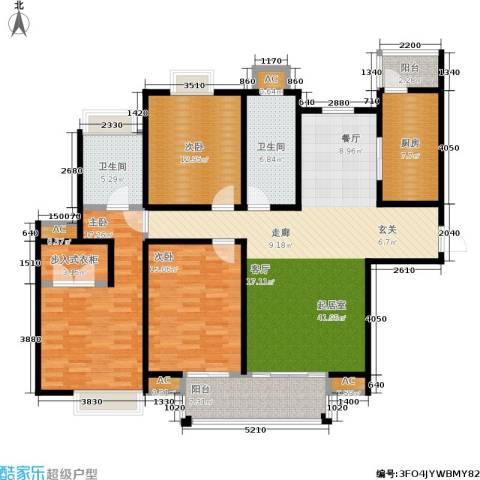 中房澜泊湾3室0厅2卫1厨139.00㎡户型图