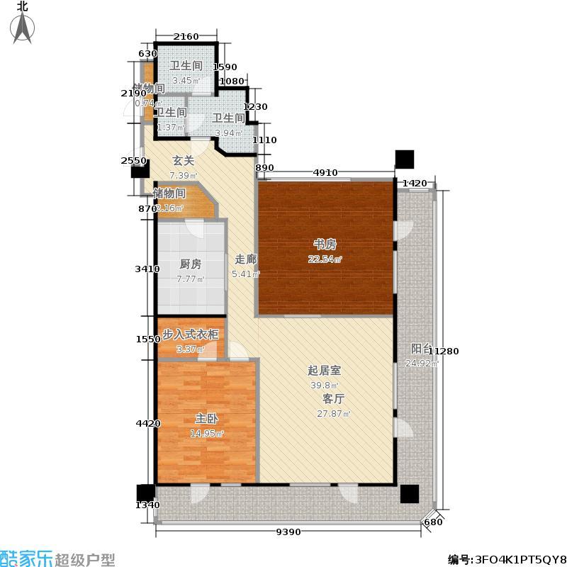 龙头国际(龙公馆)136.26㎡龙公馆0713626户型2室1厅