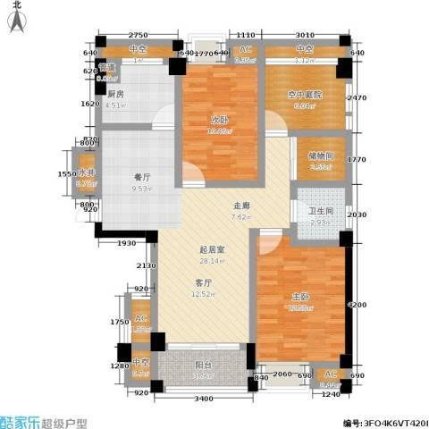 百盛国际名都2室0厅1卫1厨102.00㎡户型图