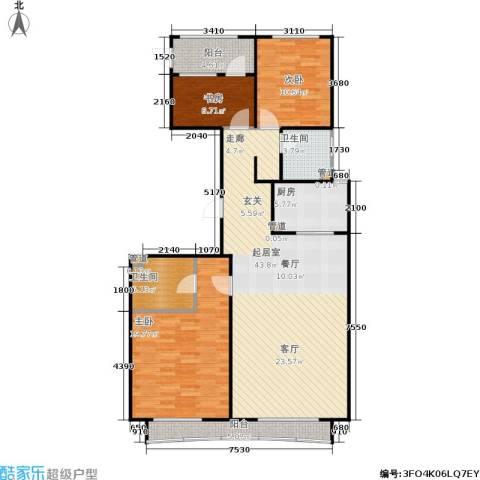顺鑫华玺瀚楟3室0厅2卫1厨138.00㎡户型图