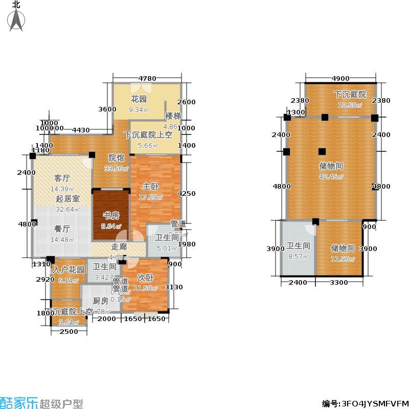 华粹南山绿庭110.00㎡华粹・南山绿庭二期20-23号楼一层1号房户型