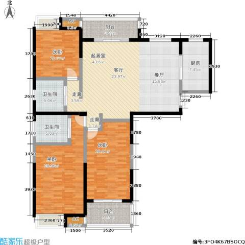 天隽峰3室0厅2卫1厨178.00㎡户型图
