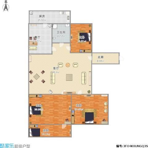 花园小区4室2厅1卫1厨332.00㎡户型图