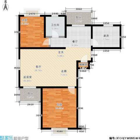 中房澜泊湾2室0厅1卫1厨102.00㎡户型图