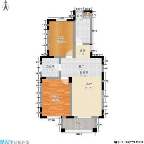 富力十号2室0厅1卫1厨78.00㎡户型图