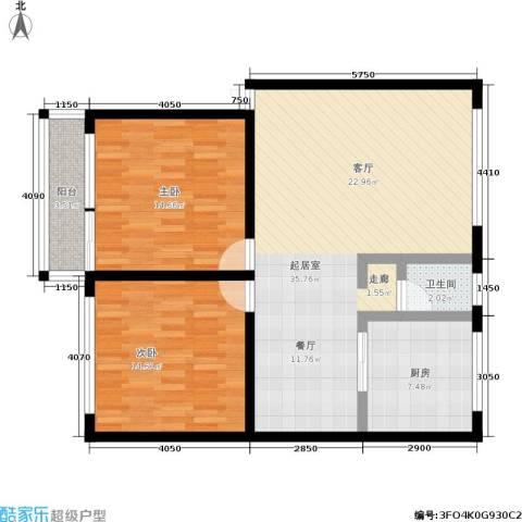 新星小区2室0厅1卫1厨89.00㎡户型图