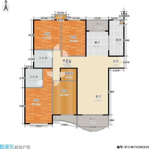 海德卫城3室1厅2卫1厨164.56㎡户型图