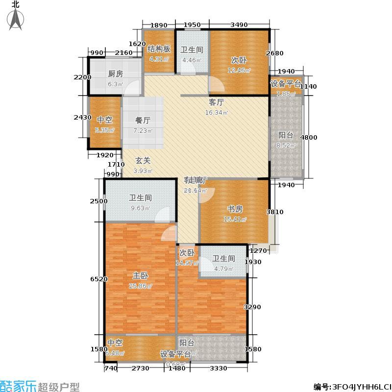 宏江中央广场186.00㎡一期C-1户型