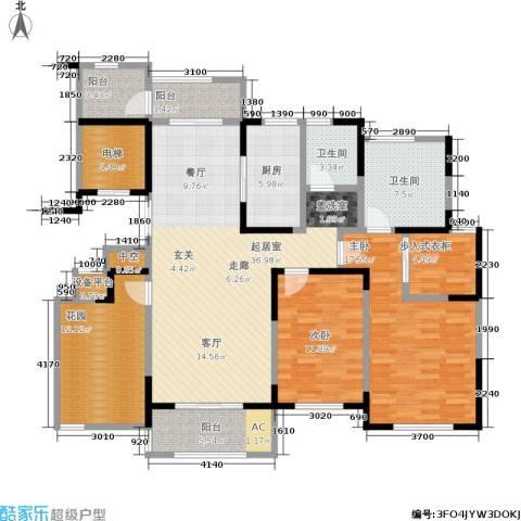 中茵星墅湾2室0厅2卫1厨135.00㎡户型图