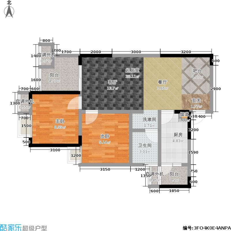 天府城89.00㎡二期5、6号楼标准层I户型