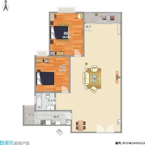 麒麟花园2室1厅1卫1厨94.00㎡户型图