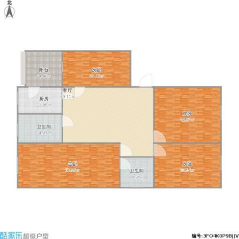 和平花园4室1厅2卫1厨353.00㎡户型图