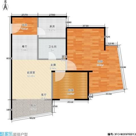 飘HOME1室0厅1卫1厨91.00㎡户型图