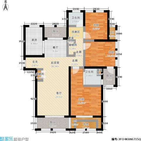 亿丰赛格数码城3室0厅2卫1厨120.00㎡户型图