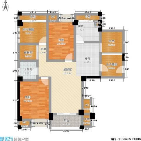 百盛国际名都2室0厅1卫1厨106.00㎡户型图