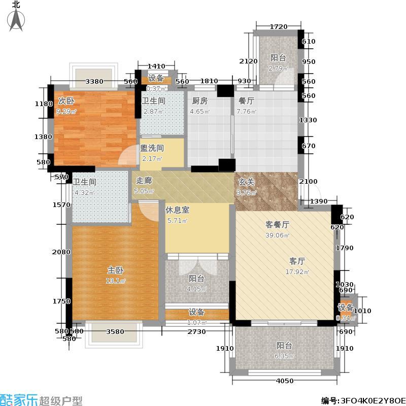 前锋空港国际104.84㎡一期3号楼标准层B2户型