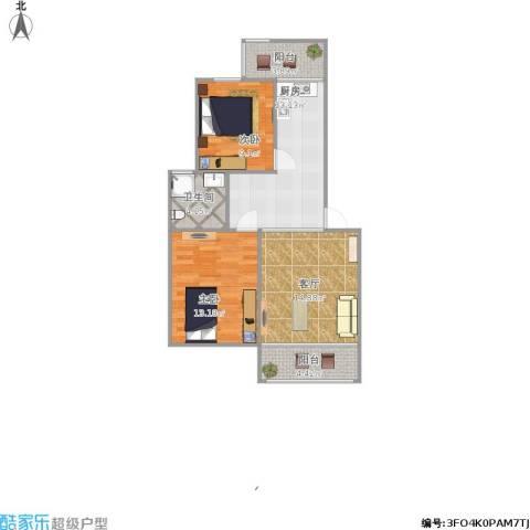 花田洋房2室1厅1卫1厨85.00㎡户型图