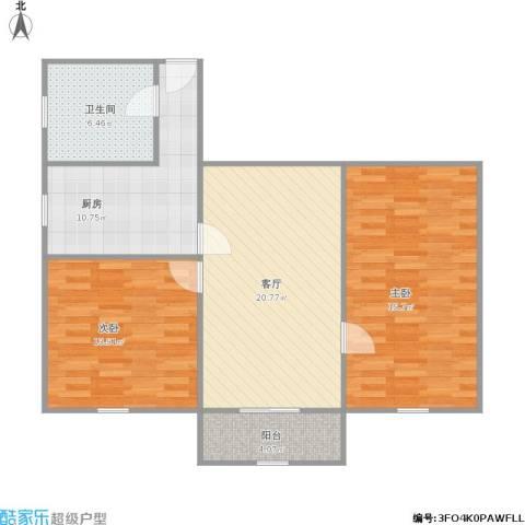 汶水东路650弄2室1厅1卫1厨101.00㎡户型图