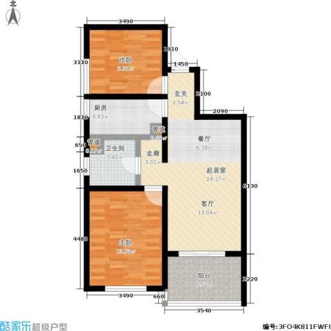 金茂晓苑2室0厅1卫1厨96.00㎡户型图