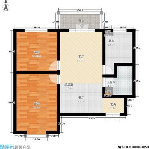 金茂晓苑2室0厅1卫1厨85.00㎡户型图